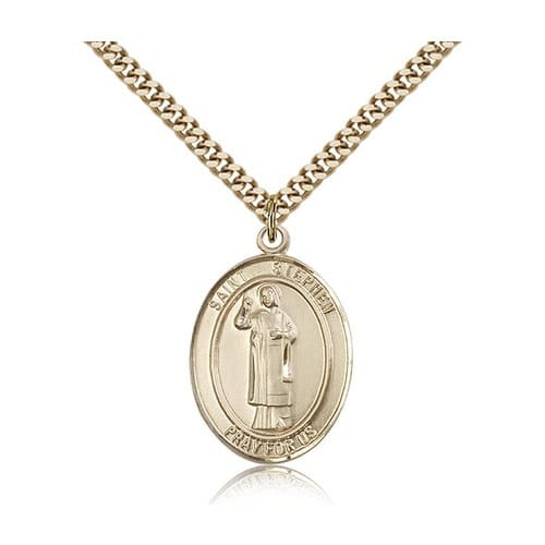 14kt Gold Filled St. Stephen the Martyr Pendant w/ chain