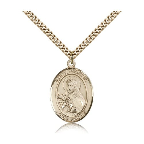 14kt Gold Filled St. Theresa of Lisieux Pendant w/ chain