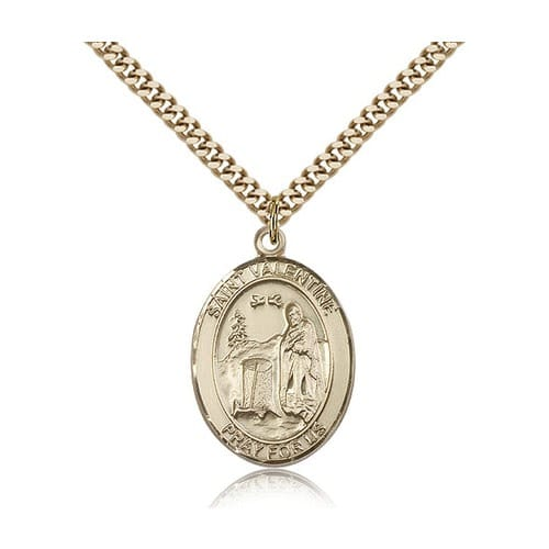 14kt Gold Filled St. Valentine of Rome Pendant w/ chain