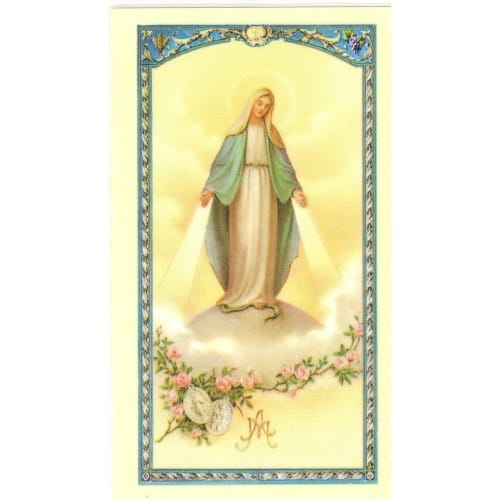 The Golden Hail Mary - Prayer Card