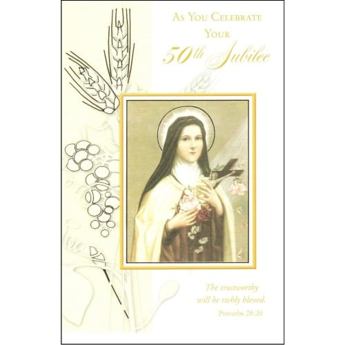 Golden Jubilee St. Theresa Greeting Card