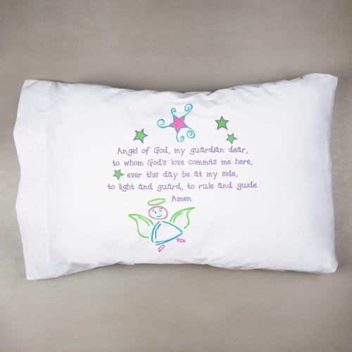 Pillowcase In Spanish Mesmerizing Guardian Angel Pillowcase Pastel Colors The Catholic Company