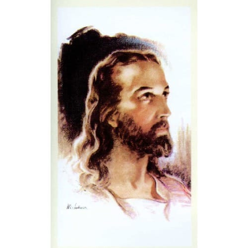 Head of Christ (Sallman) Personalized Prayer Card (Priced Per Card)
