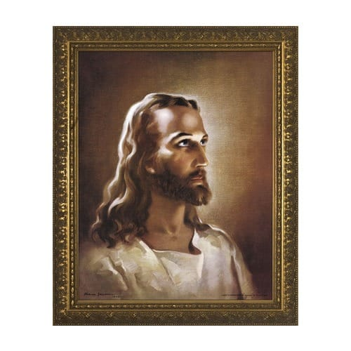 Head of Christ w/ Gold Frame