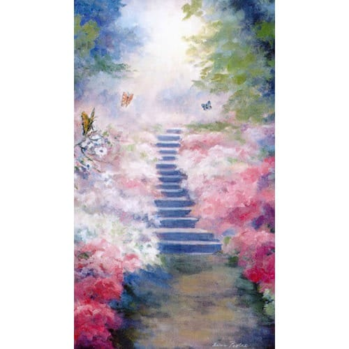 heavenly garden personalized prayer card  priced per card