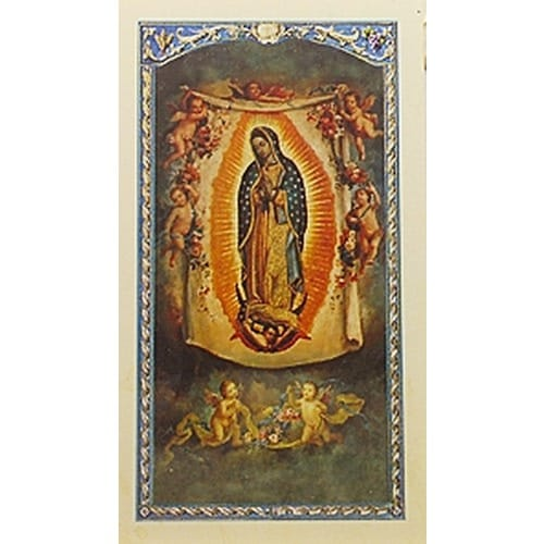 Helpless Unborn - Our Lady of Guadalupe - Prayer Card