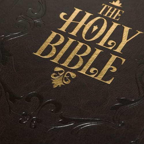 Quot Holy Bible Quot Bible Cover Brown The Catholic Company
