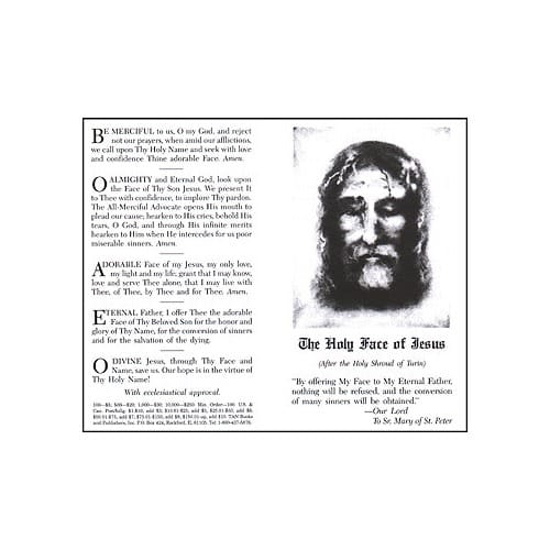 Holy Face Prayer (Pack of 100)