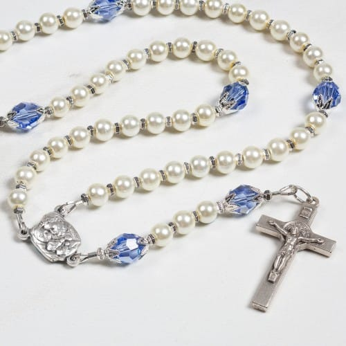Holy Family Baptism Rosary - Boy