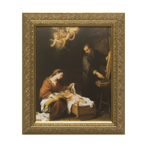 Holy Family by Murillo w/ Gold Frame