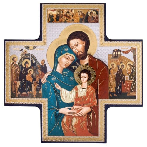 Holy Family Cross Icon, 6
