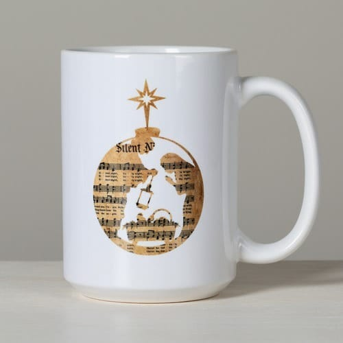 Holy Family Sheet Music Mug