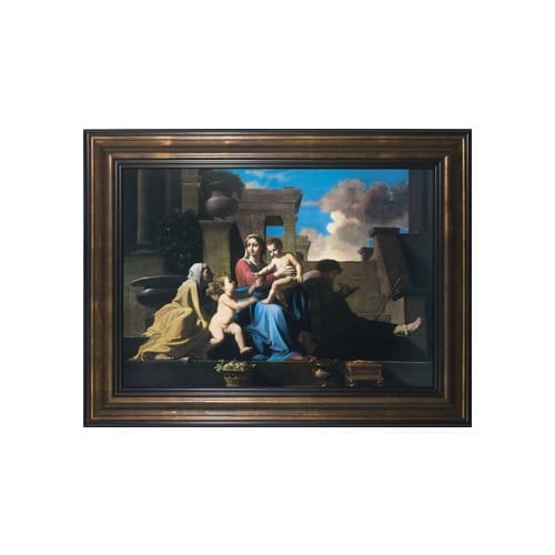 Holy Family on the Steps w/ Bronze Frame