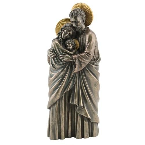 holy family veronese statue bronzed 10 inch the catholic company