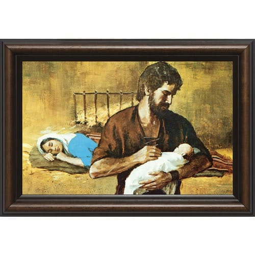 Holy Family w/ Cherry Frame