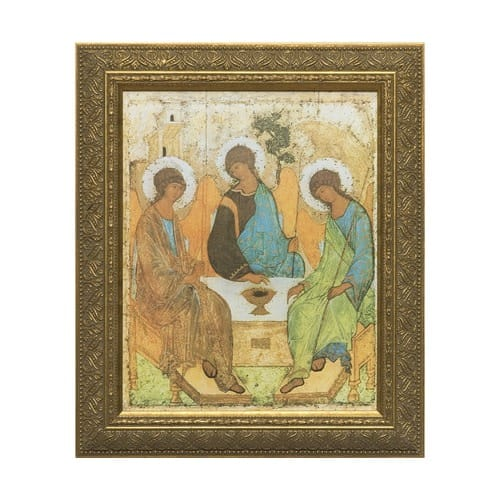 Holy Trinity Angels w/ Gold Frame