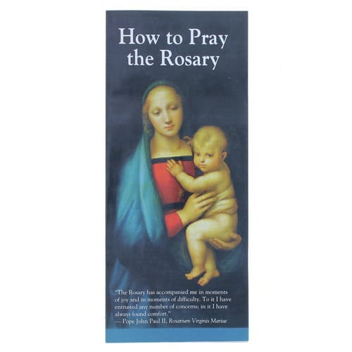 picture regarding How to Pray the Rosary Printable identified as How toward Pray the Rosary Pamphlet (50 Pack)