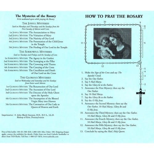 How to Say the Rosary Prayer (100 Pack)