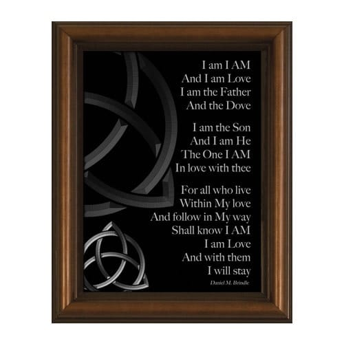 I Am Poem w/ Cherry Frame (6x8)