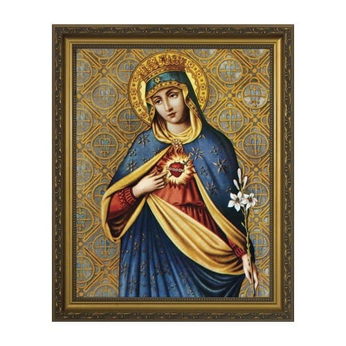 Immaculate Heart w/ Gold Frame (11x14)