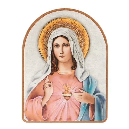 Immaculate Heart Wood Arch Plaque