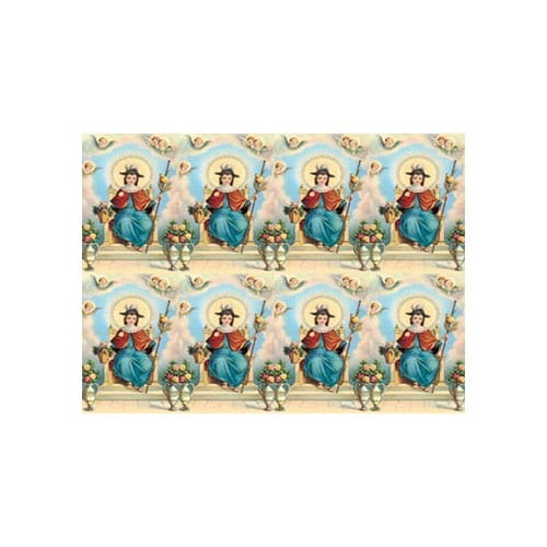 Infant of Atocha Personalized Prayer Cards  (Priced Per Card)