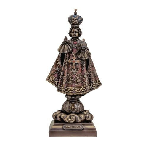Infant Of Prague Statue, Bronzed, 9