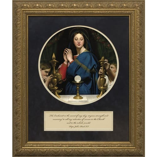 Ingres' Madonna of the Host w/  John Paul II Quote