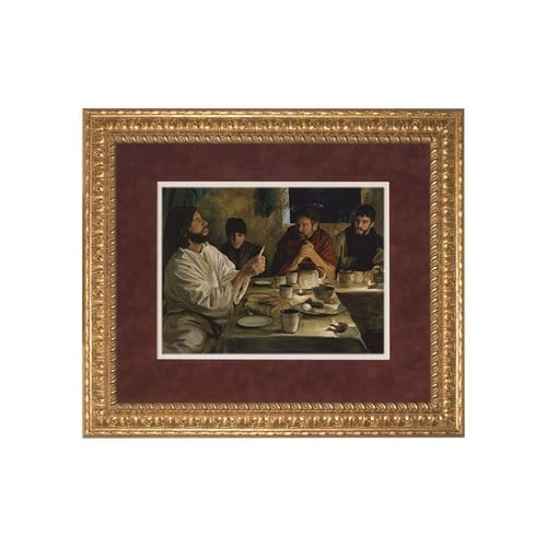 The Institution of the Eucharist (Matted w/ Ornate Gold Frame) 14x17