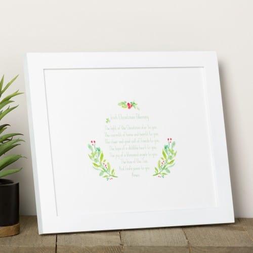 irish christmas blessing print
