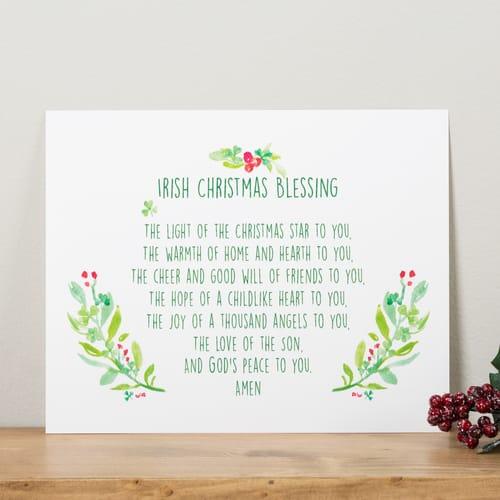irish christmas blessing unframed print the catholic company jpg 500x500 irish christmas blessing