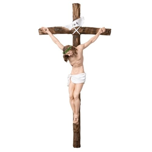 Italian Handpainted Crucifix - 16 inches