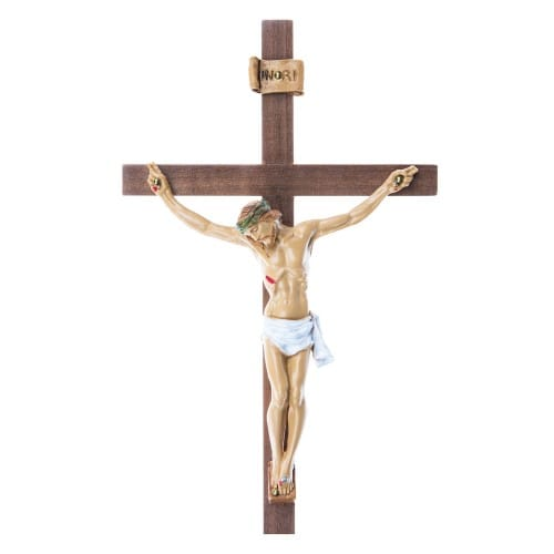 Italian Walnut Crucifix 10 inch