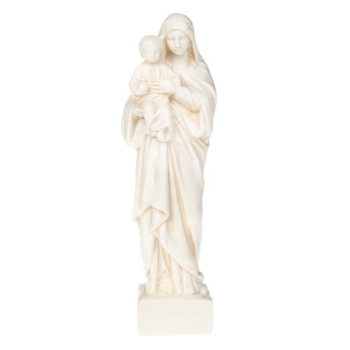 Ivory Madonna and Child Statue