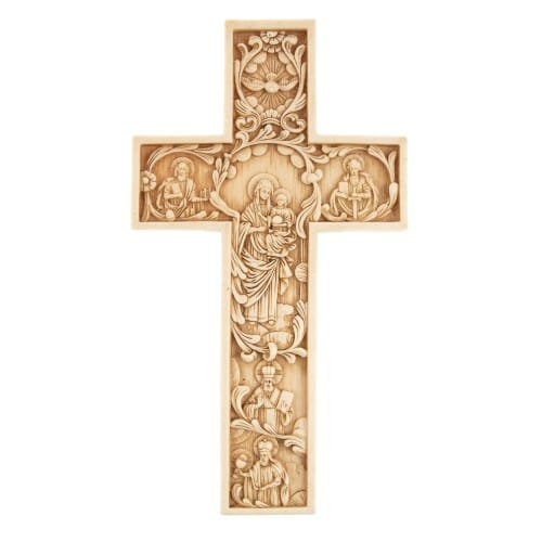 Ivory Pictorial Hanging Cross
