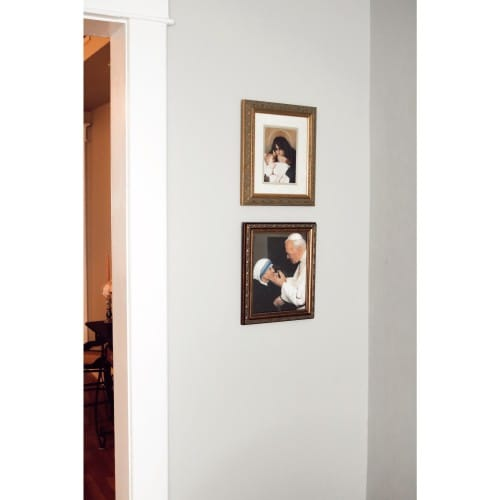John Paul Ii W Mother Teresa W Gold Frame 8x10 The