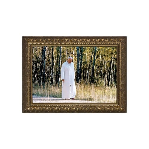 John Paul II (Walking Rosary) w/ Gold Frame