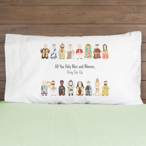 Junior Saints Litany of Saints Pillowcase