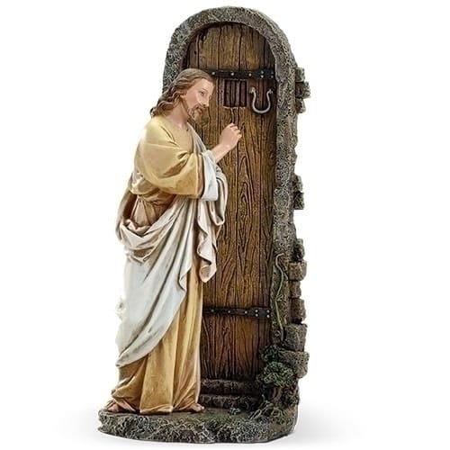 Knocking At The Door Figure The Catholic Company