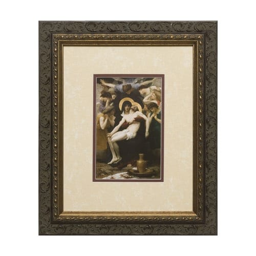La Pieta (Matted w/ Dark Ornate Frame)