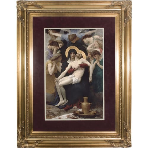 La Pieta Matted with Gold Museum Frame 20 x 28