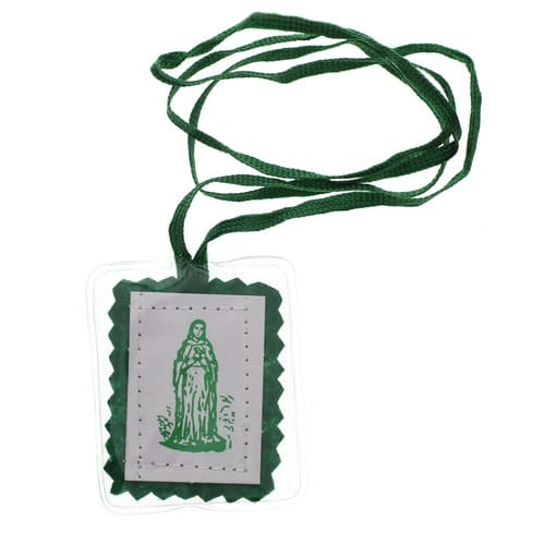 Laminated Green Scapular