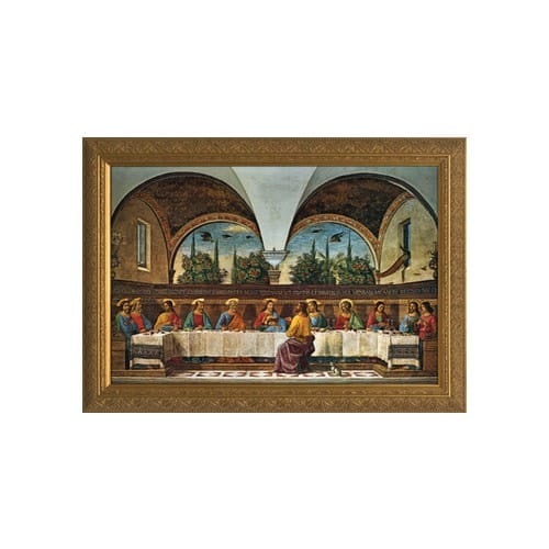 The Last Supper (Ghirlandaio), Gold Frame, 10x16