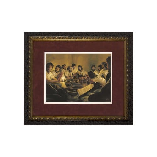 The Last Supper Matted W Dark Ornate Frame Limited