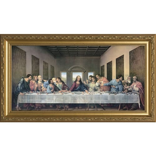 The Last Supper Redone W Gold Frame The Catholic Company