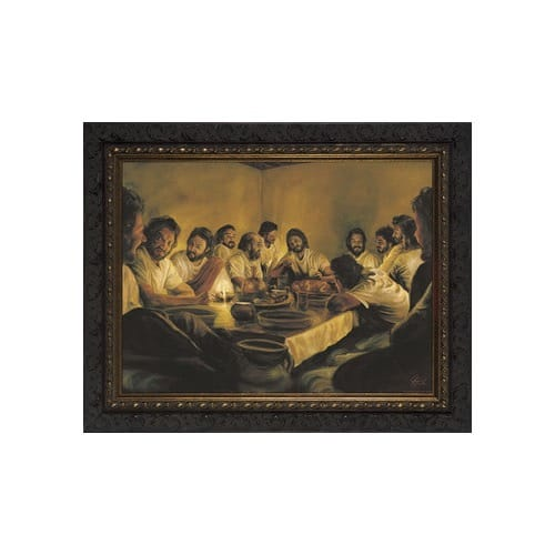 Last Supper w/ Dark Ornate Frame (9x12)