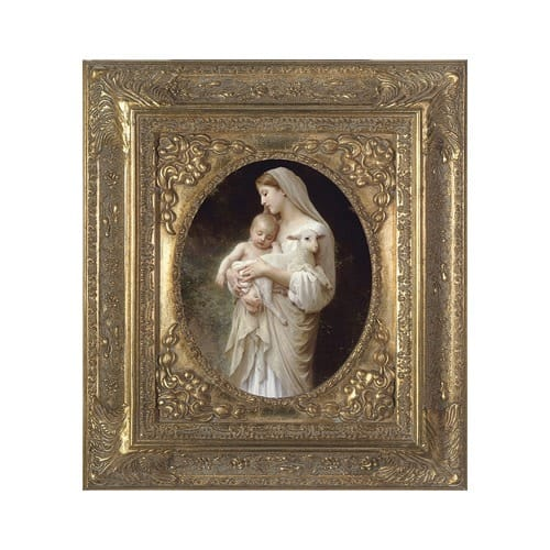 L'Innocence on Canvas w/ Gold Spandral Frame