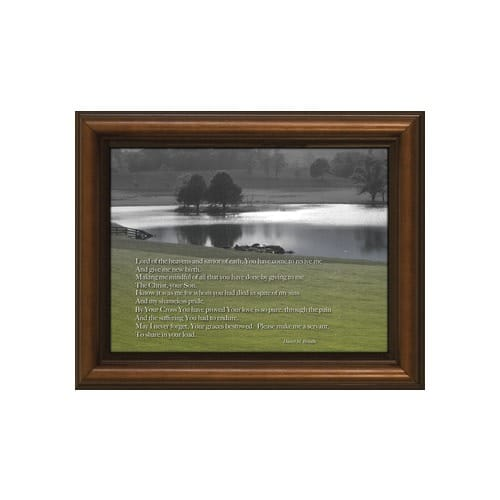 Lord of the Heavens Poem w/ Cherry Frame (6x8)