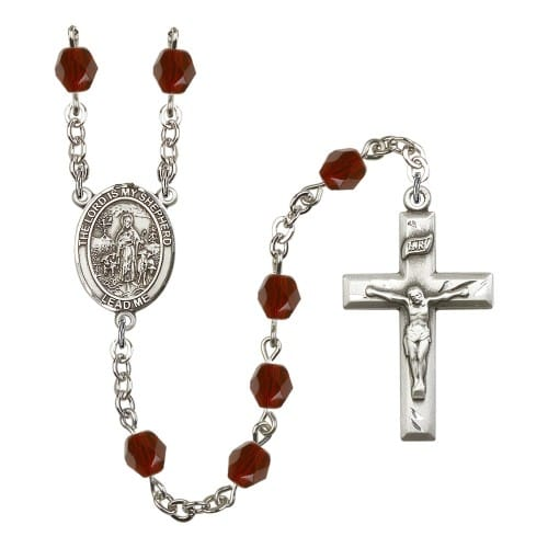 Lord Is My Shepherd Red January Rosary 6mm
