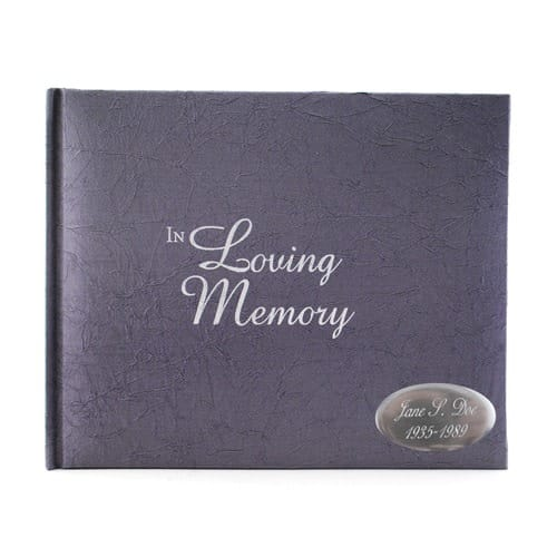 In Loving Memory Guest Book, 7 by 5 1/2 inches